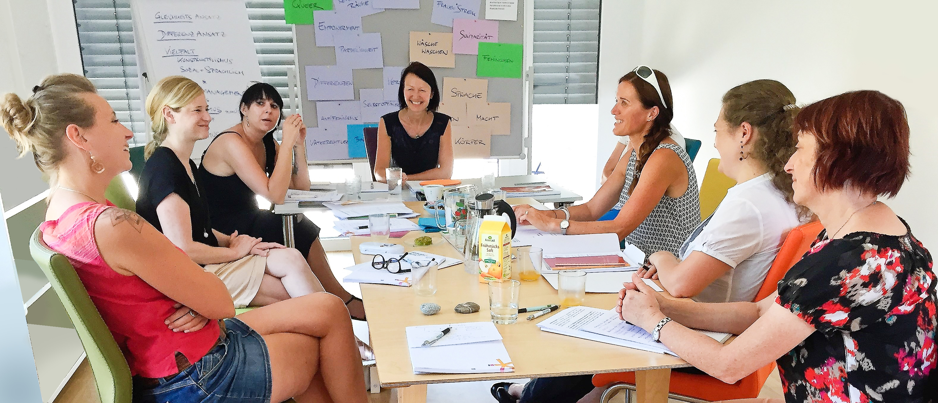 Mag.a Dr.in Bettina Zehetner/Frauen* beraten Frauen* Wien leitete den Workshop mit Beraterinnen von Osttiroler Einrichtungen