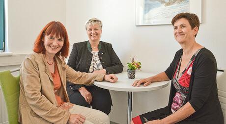 Itta Tenschert, Doris Batkowski und GR Gerlinde Kieberl (von links). Foto: Funder