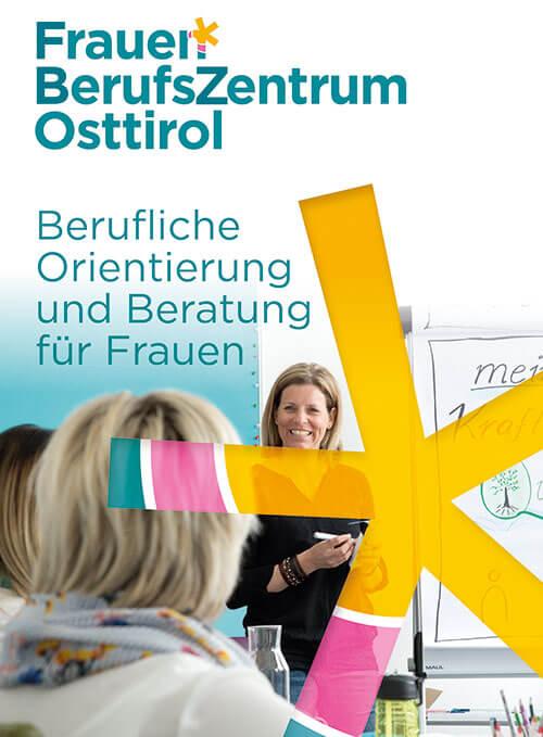 Infofolder des FrauenBerufsZentrum Osttirol